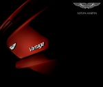 aston martin photography V8 vantage logo rear