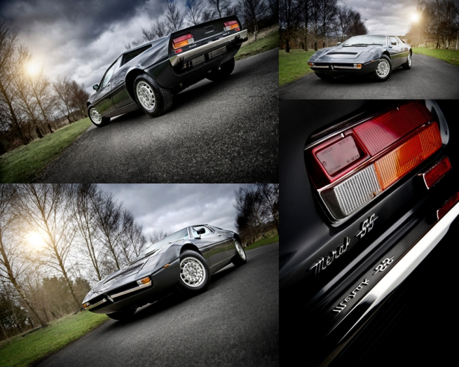 Maserati Car Photography montage